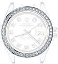 Stainless Steel + Diamonds Bezel