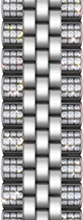 Jubilee - Stainless steel + Side Diamonds