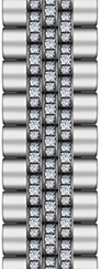 Jubilee - Stainless steel + Middle Diamonds