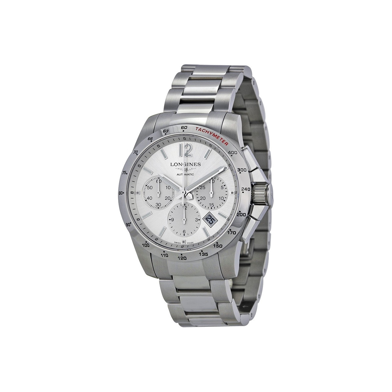 Longines Conquest L27434766 Stainless Steel Case and Steel Bracelet fbea0c047a3