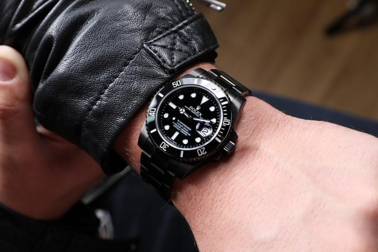 Rolex Submariner Date Black PVD/DLC Coated Stainless Steel Watch 10LN